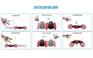 Hand Gestures to Control the Toy Stunt Car