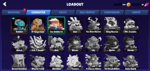Bullet League Characters