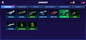 Bullet League Weapons