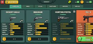 Mini Militia Hand Guns