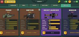 Mini Militia Special Weapons
